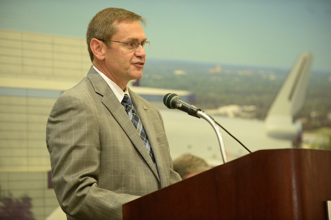 John Elbon, vice president and general manager of Boeing's space exploration division. Credit: NASA