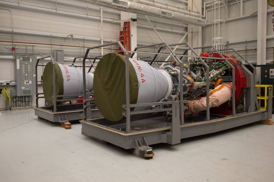 These two RD-181 engines delivered in December will power the next Antares rocket launch. Two engines delivered from Russia in August 2015 will be used for the upcoming hotfire test, then prepared for another Antares mission at the end of 2016. Credit: NASA
