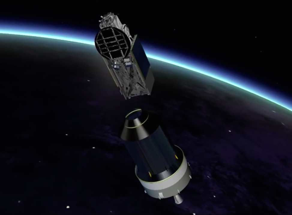 The Sky Muster 2 satellite, riding in the upper position on the Ariane 5's dual-payload stack, deploys to begin a 15-year mission providing high-speed Internet for Australia's National Broadband Network.