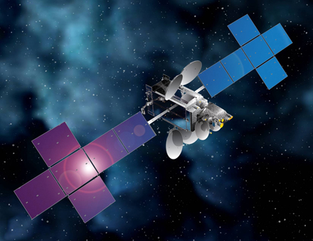 Artist's concept of the Intelsat 31/DLA-2 satellite. Credit: Space Systems/Loral