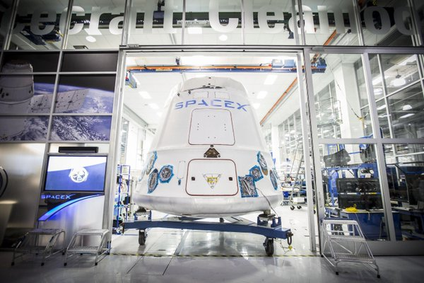 File photo of a previous Dragon spaceship rolling out of SpaceXs factory in Hawthorne, California. Credit: SpaceX