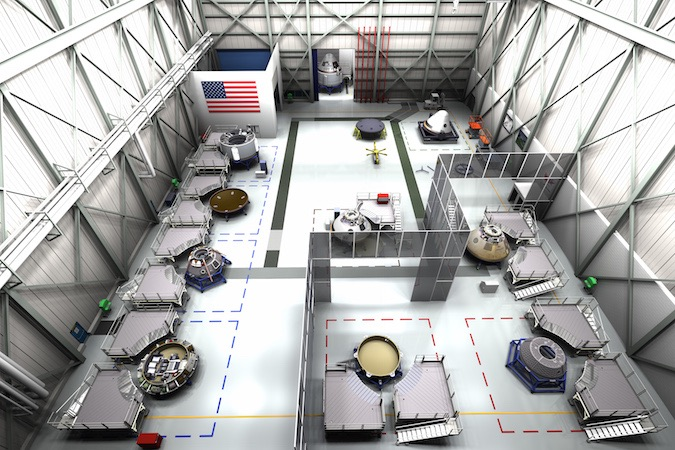 Artist's concept of the CST-100 Starliner assembly and refurbishment facility at the Kennedy Space Center. Credit: Boeing