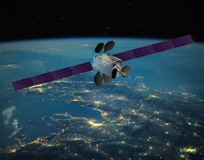 Artist's concept of the Intelsat 33e satellite. Credit: Boeing