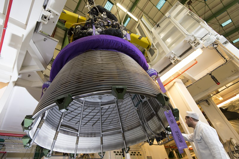 File photo of a Vulcain 2 engine destined for launch on an Ariane 5 rocket. Credit: Philippe Stroppa/Snecma/Safran