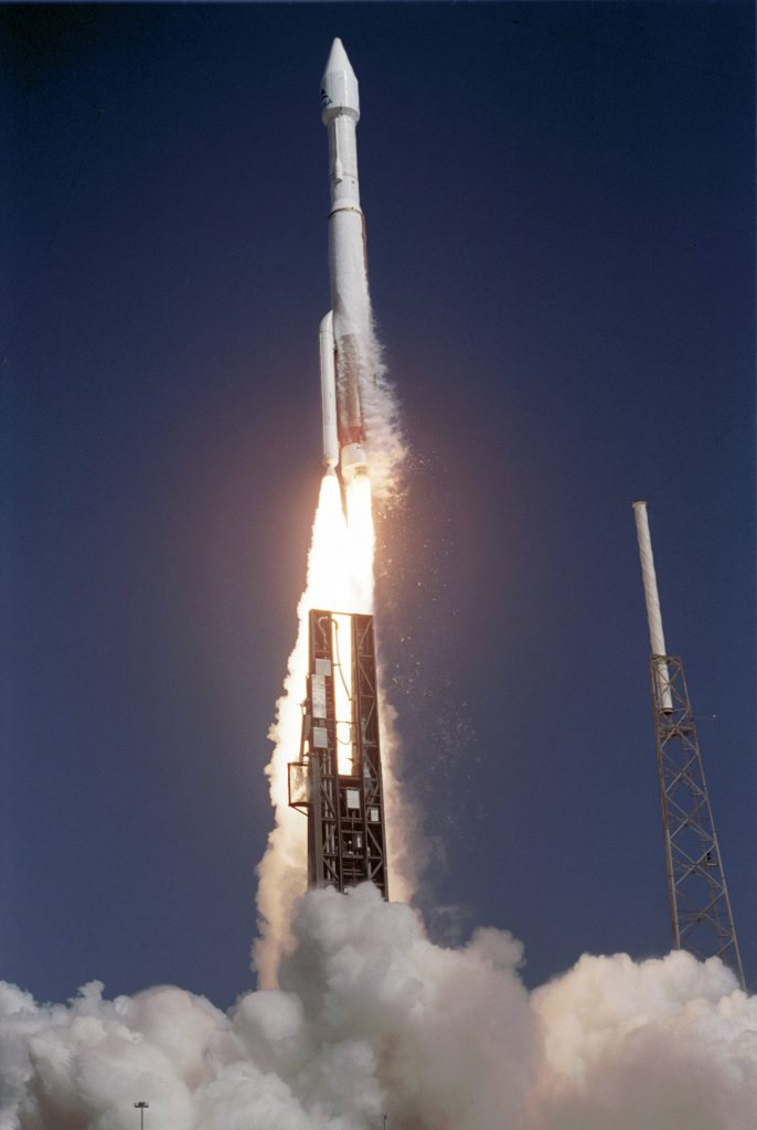 File photo of first Atlas 5-411 launch in 2006 with ASTRA 1KR satellite. Credit: Pat Corkery/Lockheed Martin
