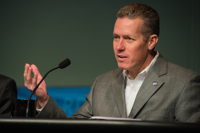 File photo of Phil McAlister, NASA's director of commercial spaceflight development. Credit: NASA/Jay Westcott