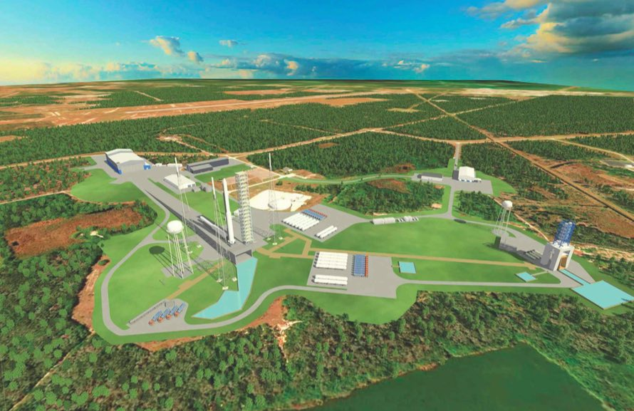 Layout of Blue Origin's launch pad, rocket assembly facilities, and an engine test stand at Cape Canaveral's Complex 36 and Complex 11 launch pads. Credit: Blue Origin