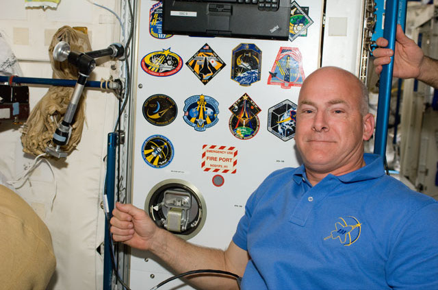 Astronaut Alan Poindexter poses inside the space station's Unity module during the STS-131 mission in April 2010. Credit: NASA