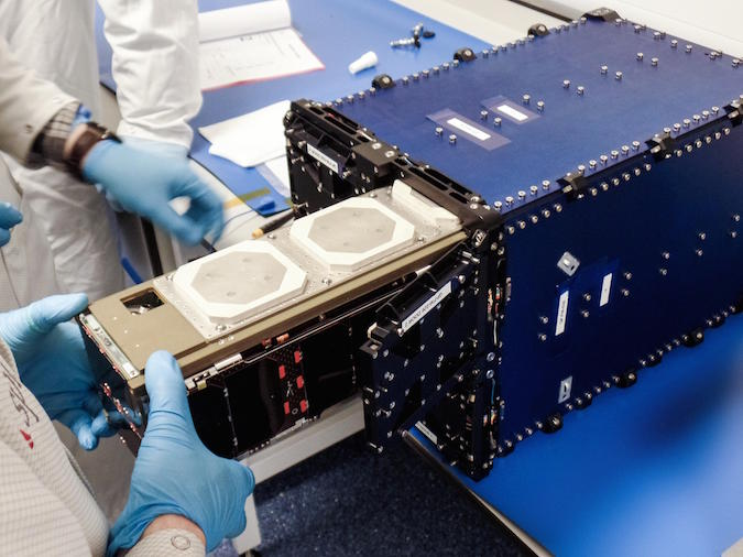 File photo of a Lemur 2 CubeSat loaded into its deployer before a previous mission. Credit: Spire