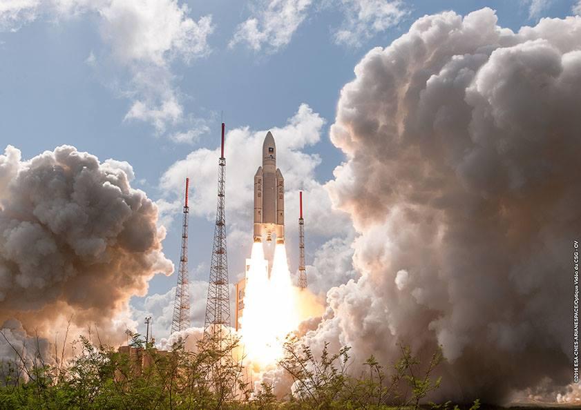 Credit: ESA/CNES/Arianespace – Photo Optique Video du CSG – OV