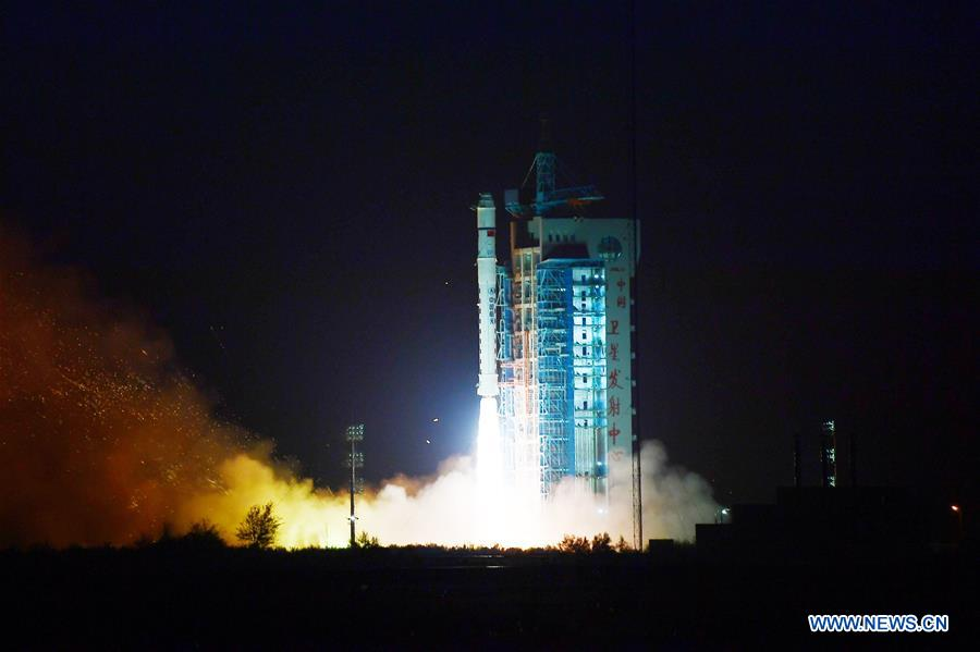 A Long March 2D rocket lifted off at 2314 GMT (6:14 p.m. EST) Friday with the Yunhai 1 weather satellite. Credit: Xinhua