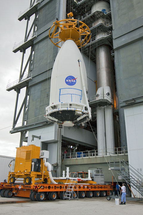 Advanced Weather Bird Mounted Atop Atlas 5 Rocket For