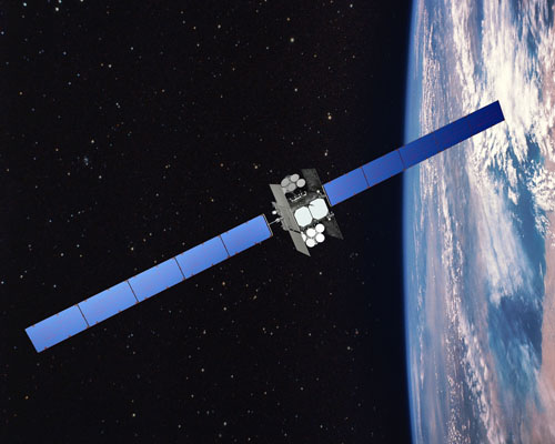 An artist's concept of WGS in orbit. Credit: Boeing