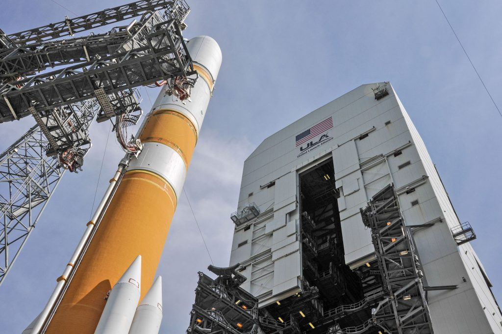 A Delta 4 rocket will launch the WGS 8 satellite on Wednesday. Credit: United Launch Alliance
